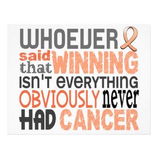 Whoever Said Uterine Cancer 21.5 Cm X 28 Cm Flyer