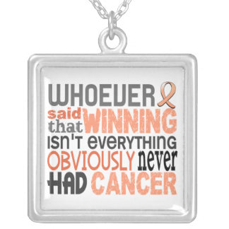 Whoever Said Uterine Cancer Square Pendant Necklace