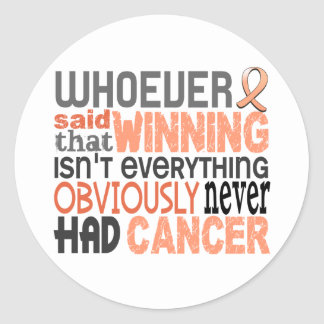 Whoever Said Uterine Cancer Stickers