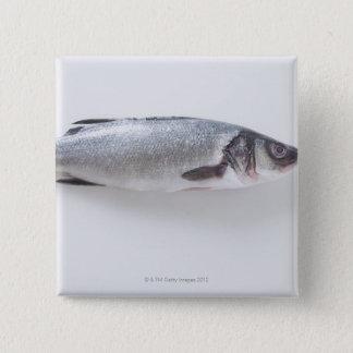 Whole branzini fish 15 cm square badge