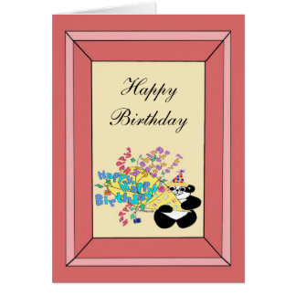 Whole bunch of happy birthday wishes greeting card