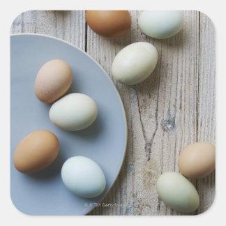 Whole eggs square sticker