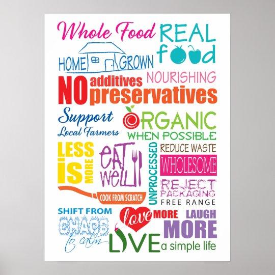 Whole Food Manifesto Poster
