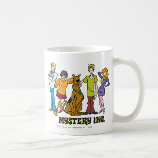 Whole Gang 12 Mystery Inc Classic White Coffee Mug