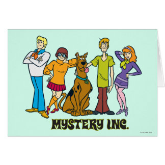 Whole Gang 12 Mystery Inc Greeting Card