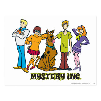 Whole Gang 12 Mystery Inc Postcard