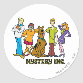 Whole Gang 12 Mystery Inc Round Sticker