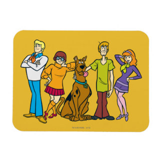 Whole Gang 14 Mystery Inc Magnet
