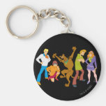 Whole Gang 16 Mystery Inc Basic Round Button Key Ring