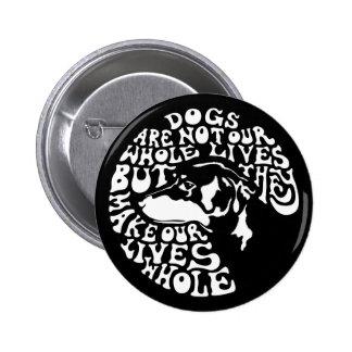 Whole Lives -bw 6 Cm Round Badge