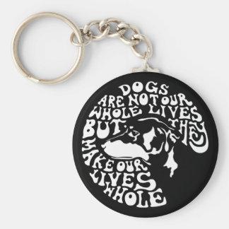 Whole Lives -bw Key Ring