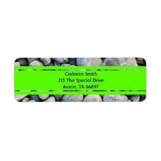 Whole lotta rocks! Green Edition Address Labels