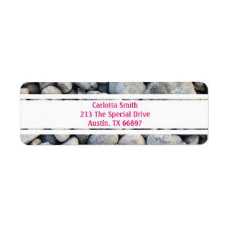 Whole lotta rocks! White Edition Address Labels