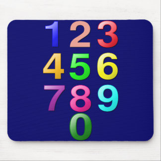 Whole Numbers or Counting numbers to 9 Mousepad