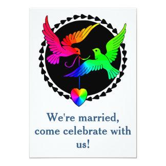 "Whole of the Rainbow Dove Gay Reception Invitation 5"" X 7"" Invitation Card"