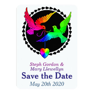 Whole of the Rainbow Save the Date Wedding Card 11 Cm X 16 Cm Invitation Card
