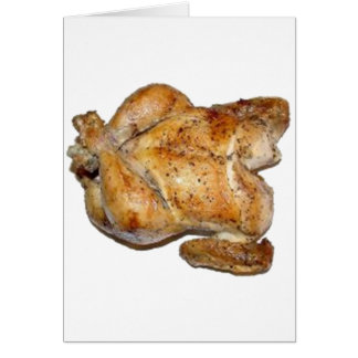 Whole Roast Chicken Greeting Card