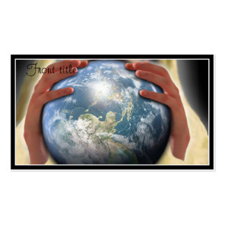 Whole World in His Hands Business Card Templates