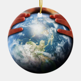 Whole World in His Hands Round Ceramic Decoration
