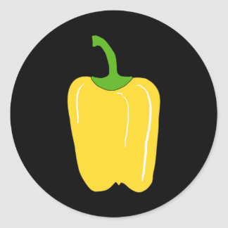 Whole Yellow Bell Pepper. Classic Round Sticker