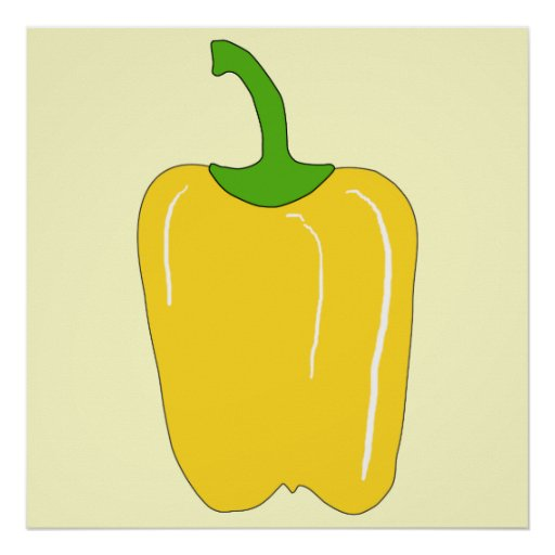 Whole Yellow Bell Pepper. Poster