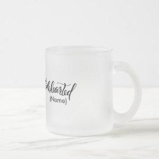 Wholehearted Custom Frosted Glass Coffee Mug