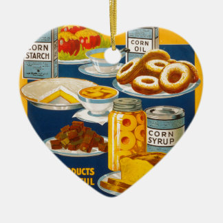 Wholesome - nutritious foods from corn christmas ornament