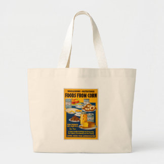 Wholesome - nutritious foods from corn large tote bag
