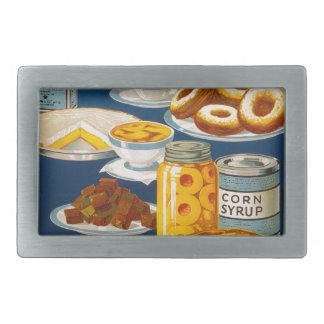 Wholesome - nutritious foods from corn rectangular belt buckles