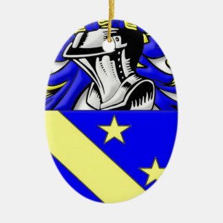 Wholey Coat of Arms Ceramic Oval Decoration