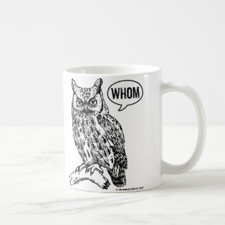 Whom Owl Grammar Mug English Teacher