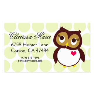 Whoo Loves You Pack Of Standard Business Cards