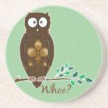 Whoo? Owl Coasters