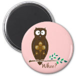 Whoo? Owl Refrigerator Magnets