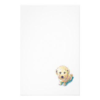 Whoodle dog painting fun poodle wheaten mutt cute custom stationery