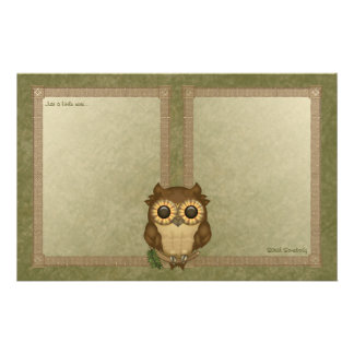 Whoolio The Cutest Owl Notepaper Stationery