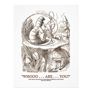 Whooo...Are...You? (Alice and the Caterpillar) 21.5 Cm X 28 Cm Flyer
