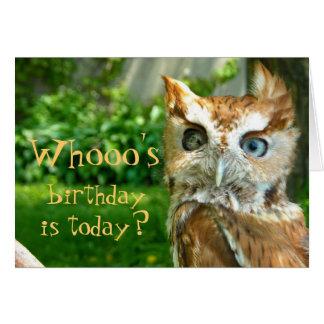Whooo s Birthday Card