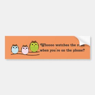 Whoooo Owls Car Bumper Sticker
