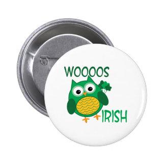 Whooos Irish 2 Inch Round Button