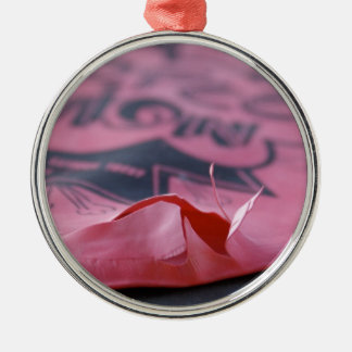 Whoopee Cushion Silver-Colored Round Decoration