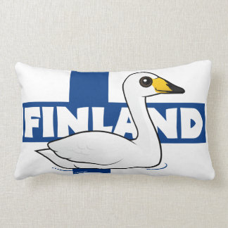 Whooper Swan of Finland Lumbar Cushion