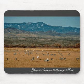 Whooping and Sandhill Cranes Mouse Pad