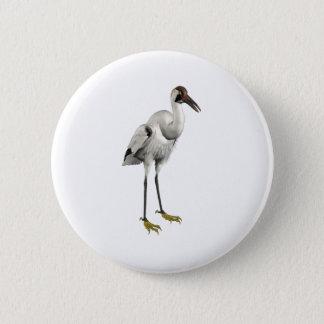 Whooping Crane 6 Cm Round Badge