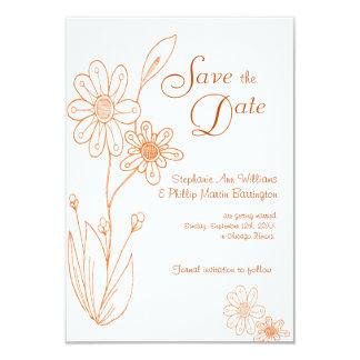 Whoopsie Daisy Simple Orange Save the Date 9 Cm X 13 Cm Invitation Card