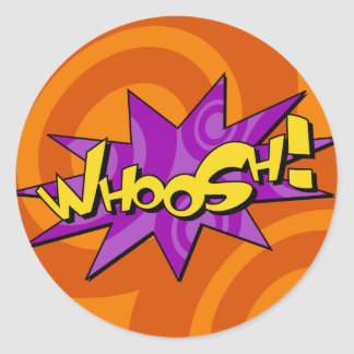Whoosh Comic Book Sticker