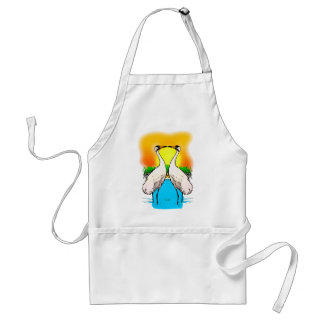 Whopping Cranes in Love Aprons