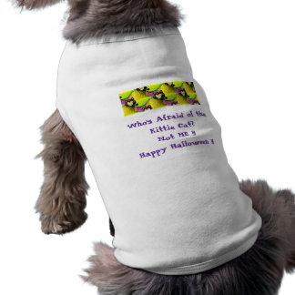 Who's Afraid of the Cat Halloween Dog Shirt