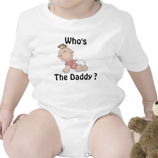 Who's The Daddy Baby Girls Top Tee Shirts