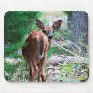 Who's There Fawn Deer Mousepad
